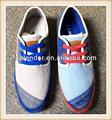 Venta al por mayor durable hombres de colores de lona zapatos de vestir
