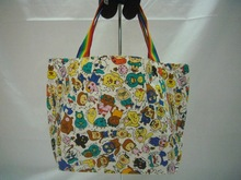 Patterned cloth for Boat type bags school girls item oem available