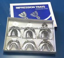 Dental / Orthodontics St Steel Impression Trays Perforated, Set of 6
