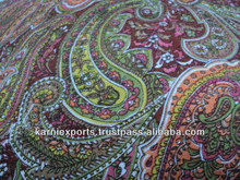PAISELY PRINT voile/ cambrics fabrics indian ethnic look floral prints any kind of fabrics for dresses & textile products makin