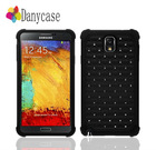 Best selling for galaxy note 3 studdied diamond case and cover;hot sale wholesale rhinestone back case for samsung galaxy note 3