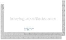 KEARING BRAND, 12''&24'' LENGTH ALUMINUM L SQUARE RULE,TRIANGULAR METAL GARMENT RULER, FOR FASHION DESIGN #5124A