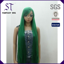 ST 2014 cheap synthetic long stright green cosplay wig (GF-W1189 # STFG43)