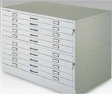 A0 Size Horizontal Steel Filing Cabinet 10 Drawers type