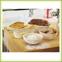 elegante naturale rattan cestino del pane per la vendita
