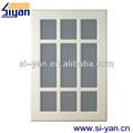 armário de vidro meia portas interiores de madeira