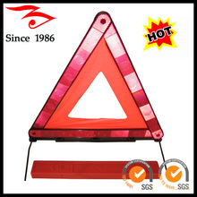 Emergency tool, red safety warning triangle with E-mark for emergency