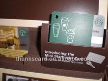 Full color printed plastic starbucks loyalty card