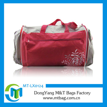 Big capacity golf bag travel cover red color polyester material