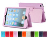 High Quality Stand PU Leather Skin Tablet Flip Folio Case for iPad Mini 2