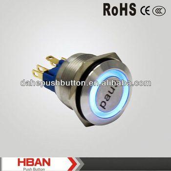 CE ROHS dot illuminated pushbutton switch
