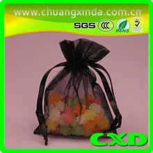organza bag for candy/wedding organza heart gift bag