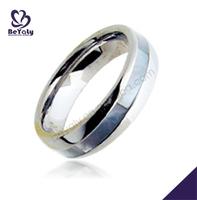 Amazing chic shiny polish male cool titanium egyptian wedding rings