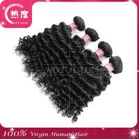 Color 1b 5a cheap deep wave brazilian 4pcs mixed lot brazilian virgin hair 24 inch human hair weave extension