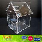 New Clear Acrylic House Shaped Countertop Donation Boxes /Plexiglass Donation Money Box
