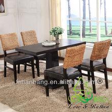 Designer wood base wicker furniture