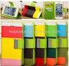 hot selling stand wallet leather case for iphone 5 with 3 card