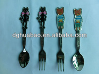 Colorful tourist souvenir spoon