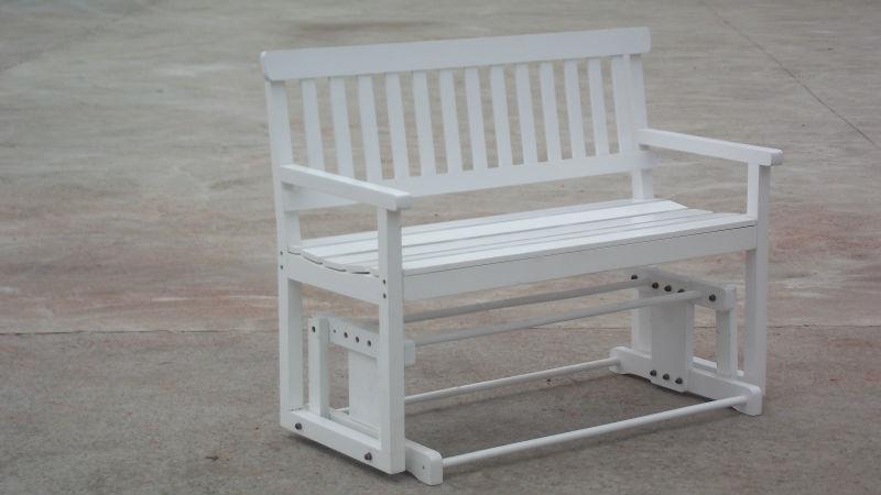 Outdoor wooden bench chair long chair