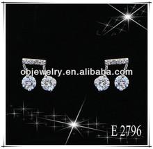 Nice Zircon Music Jewelry Notes Stud Earrings