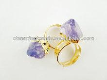 CH-ESR0054 Natural crystal rings,fashion amethyst wholesale rings