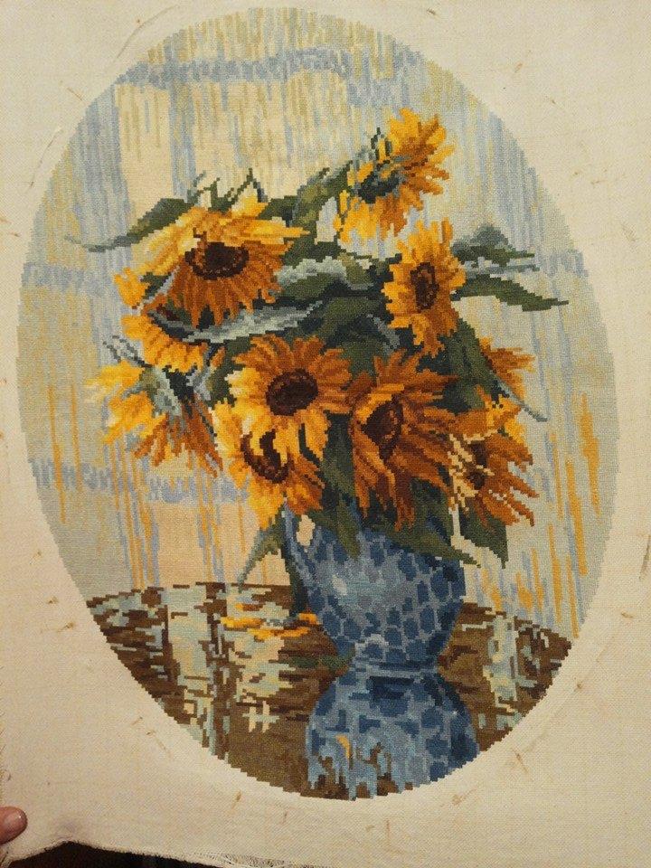 gobelin handmade sunflowers van gogh