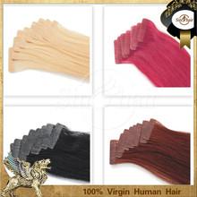 straight virgin brazilian sticker hair extensions factory price