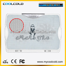 Coolcold ultra thin 2fans 4hub 10-15inch multi function laptop lap cooler