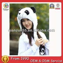 Wholesale cute animal winter hats ears panda novelty cheap adult animal winter hats