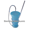 novelty long plastic hot drinking cup with lid and straw for kids