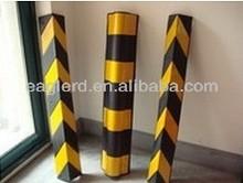 Heavy Duty Rubber Corner Guard/Reflective parking lot rubber corner protector