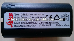 Total station battery leica geb221 battery