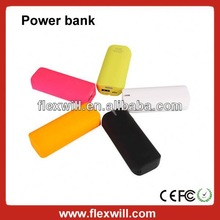 Flexwill power bank 2013 new 3500mAh power bank Colourful rechargeable & removable power bank stick with speaker for smartphone