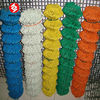 Yellow vinyl coated chain link fence (30 years factory)