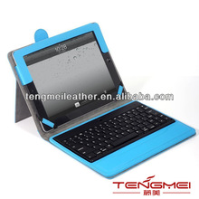 For portfolio detachable bluetooth keyboard stand case / Cover case for ipad4/3/2,High qulity pu leather case for ipad