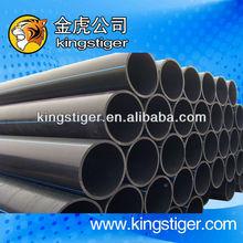 black large diameter hard pressure HDPE water pipeline