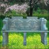 Western style garden stone bench