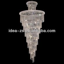 Perles de cristal lustre de lumière pendentif en étoile pour stairway