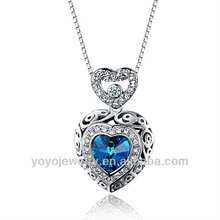 N1063 2014 New arrival product blue titanic heart of ocean necklace