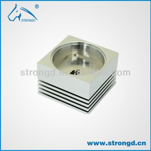 cnc milled part for led lighting house with mirror chrome oem and odm orders