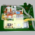 Hausbau Modellbauer/schöne 3D-Gebäude Rendering zeichnung, Innenraum haus Plan