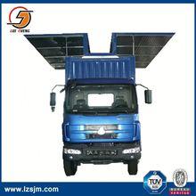 wing opening aluminum truck box
