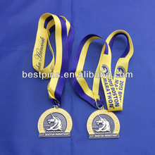 marathon boston medals and ribbons, athletic club metal award medals,custom made medals metal