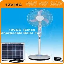 """12VDC 14"""" High Efficiency Solar Fan with DC/AC double duty"""