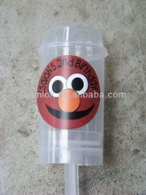 Masked Balls Plastic Push Up Pops Container