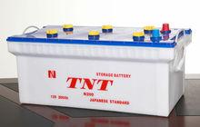JIS standard battery N200 12v 200ah dry battery