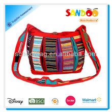2014 stylish multicolour sling cross body bag for women