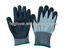 cut resistant nitrile dots gloves