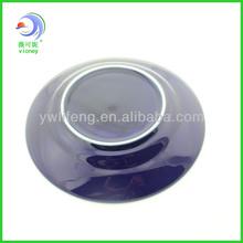 Round edge ceramic decorative plate crafts,porcelain flat plate and dish