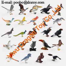 diferentes 3d parakeet de resina de pvc de aves de la figura